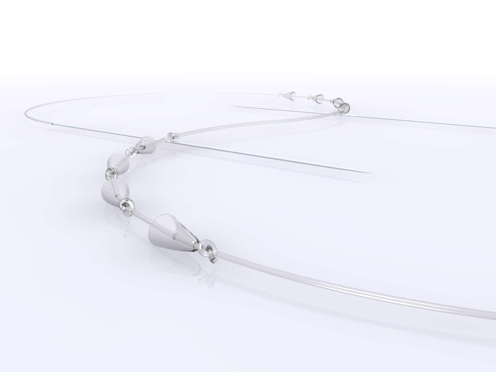 3Dリフトで使用するコーン状の突起がついている糸の画像
