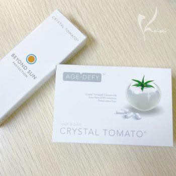 飲む日焼け止め「クリスタルトマト」と塗る日焼け止め「ビヨンドサンプロテクション」の商品画像