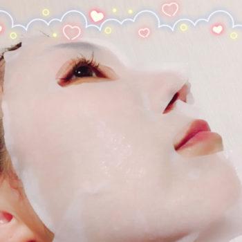 エムディア3Dモイストプレミアムマスクでパックしている様子の画像